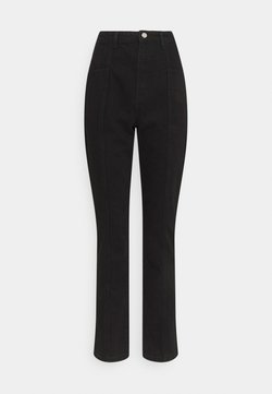 Missguided Tall - FRONT DETAIL - Jeans slim fit - black