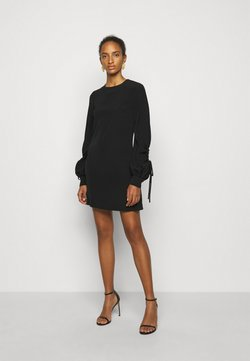 Victoria Victoria Beckham - DRAWSTRING SLEEVE SHIFT DRESS - Vestido de cóctel - black