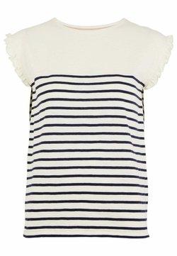 Boden - T-Shirt print - naturweiß/navy