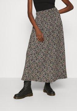 ONLY - ONLZILLE SKIRT - Falda larga - black/ditsy