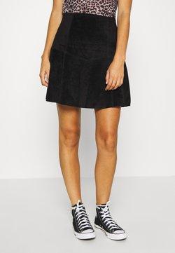 Vila - VIVISO SHORT SKIRT - A-line skirt - black/gun metal