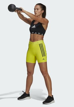 adidas Performance - SPEED CREATION SHORTS - Pantalón corto de deporte - yellow