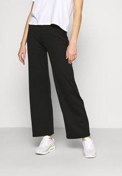 ONLY - ONLFEVER WIDE PANTS - Jogginghose - black