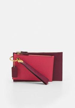 Coach - COLORBLOCK DOUBLE SLIM WRISTLET SET - Pochette - vintage pink/multi