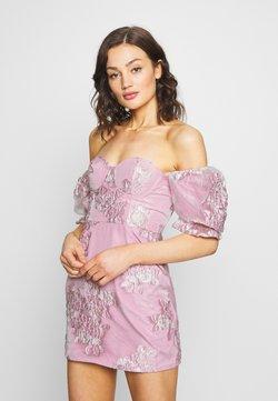Missguided - PUFF SLEEVE MINI DRESS - Vestido de cóctel - pink