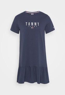 Tommy Jeans - LOGO PEPLUM DRESS - Vestido ligero - twilight navy