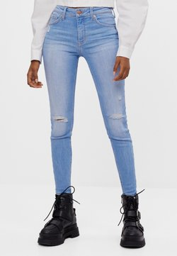 Bershka - PUSH-UP - Jeans Skinny Fit - light blue