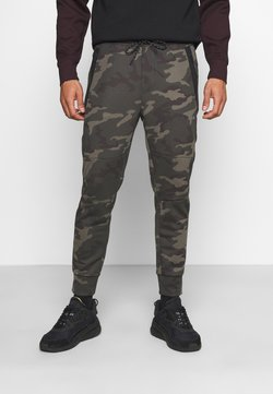 American Eagle - MANCHEGO TAPED JOGGER PANT PRINTS - Tracksuit bottoms - green