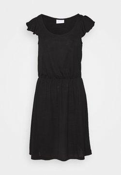 Vila - VIBARIA FLOUNCE DRESS - Jerseykleid - black