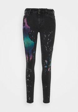Diesel - SLANDY - Jeans Skinny Fit - black / multicolor
