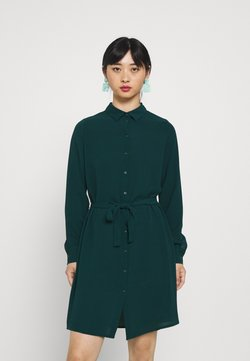 Vero Moda Petite - VMSAGA COLLAR SHIRT DRESS PETITE - Skjortekjole - sea moss