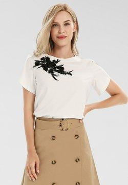 Apart - T-Shirt print - creme-schwarz