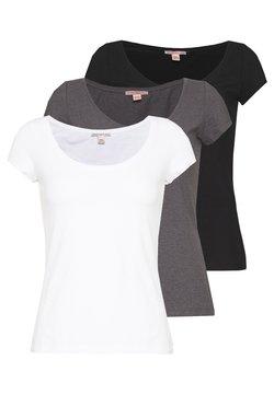 Anna Field Petite - 3 PACK - Camiseta básica - white/black/dark grey
