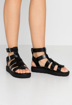 ALDO - GLASSY - Korkeakorkoiset sandaalit - black