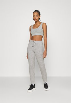 Topshop - COSY BRUSHED SET - Jogginghose - grey