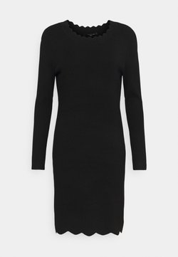 comma - Vestido de punto - black