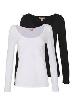 Anna Field - 2 PACK - Langarmshirt - black/white