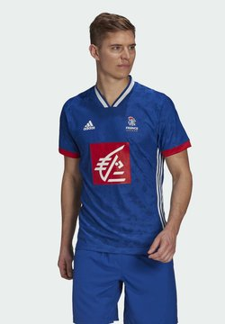 adidas Performance - FFHB REP M HB PERFORMANCE AEROREADY PRIMEGREEN HANDBALL FITTED JERSEY - Equipación de selecciones - blue