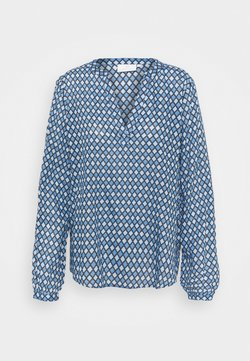 Kaffe - KASARY TILLY BLOUSE - Langarmshirt - blue tone diamond