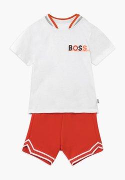 BOSS Kidswear - Broek - blanc orange