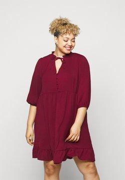 New Look Curves - HERRINGBONE SMOCK DRESS - Freizeitkleid - rust