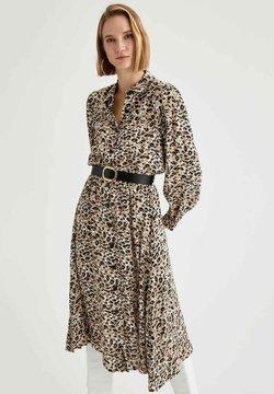 DeFacto - Sukienka koszulowa - beige