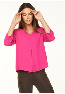 comma - MIT LAYERING-EFFEKT - Bluse - deep pink
