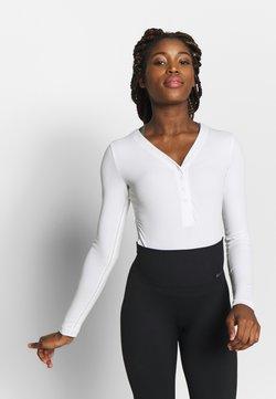 Nike Performance - YOGA LUXE HENLEY BODYSUIT - Body deportivo - summit white