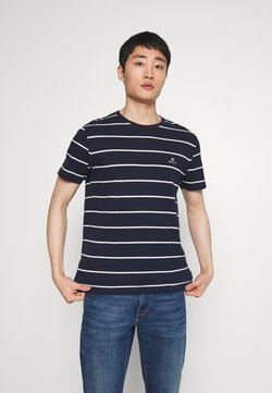 GANT - BRETON STRIPE - T-Shirt print - evening blue