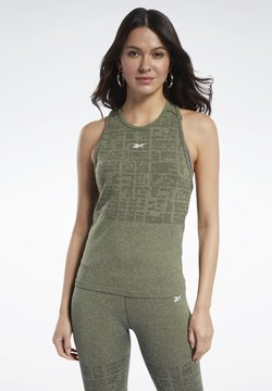 Reebok - UNITED BY FITNESS MYOKNIT SEAMLESS TANK TOP - Top - green