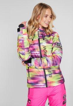 Superdry - SKI RUN JACKET - Snowboardjas - pink/yellow