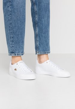 Lacoste - LEROND 120 - Sneakersy niskie - white/gold