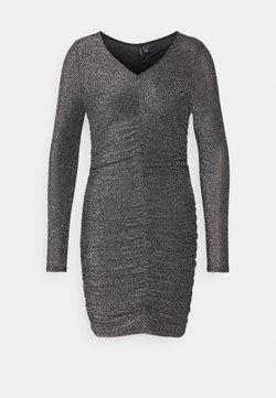 Vero Moda Petite - VMJOSEPHINE SHORT DRESS - Jersey dress - black/silver
