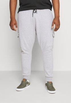 Burton Menswear London - BIG CORE CARGO JOGGER - Jogginghose - grey marl