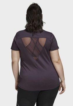 adidas Performance - GLAM ON BADGE OF SPORT LOGO T-SHIRT (PLUS SIZE) - T-shirt con stampa - purple