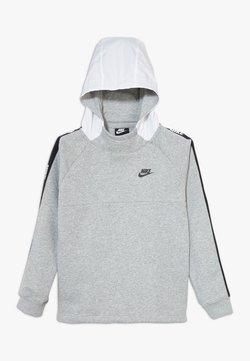 Nike Sportswear - HYBRID  - Jersey con capucha - white/black/dark grey heather