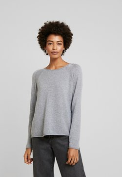 Culture - CUALAIA - Neule - light grey melange