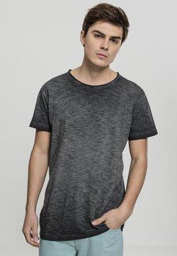 Urban Classics - COLD DYE SLUB TEE - T-Shirt print - black