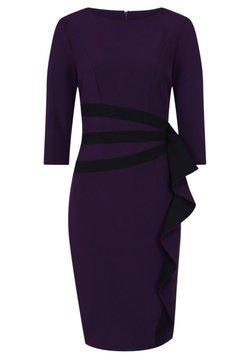 HotSquash - CONTRAST SIDE FRILL - Vestido de tubo - dark purple