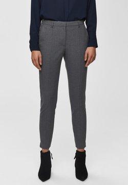 Selected Femme - MID WAIST - Spodnie materiałowe - medium grey melange