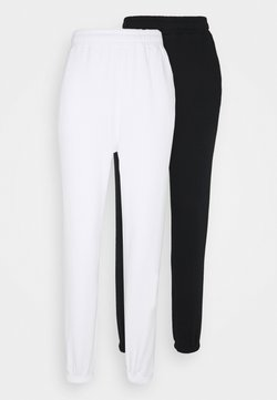 Even&Odd - 2 PACK - Jogginghose - black/white