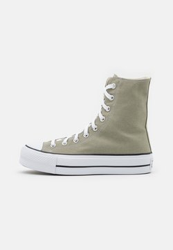 Converse - CHUCK TAYLOR ALL STAR LIFT - Sneakers high - light field surplus/white/black