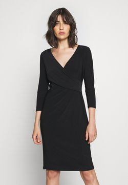 Lauren Ralph Lauren - MID WEIGHT DRESS - Vestido de tubo - black