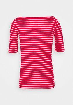 Gap Tall - BOATNECK - T-Shirt print - red/white