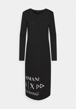 Armani Exchange - VESTITO  - Jerseyjurk - black