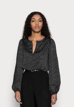 GAP Petite - SPLIT BLOUSON  - Bluse - black