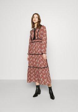Vero Moda - VMBELLA TIE DRESS - Day dress - marsala/bella