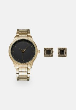 Pier One - WATCH CUFFLINK SET MANSCHETTENKNÖPFE - Rannekello - gold-coloured