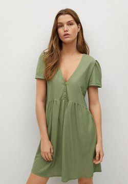 Mango - FLOWY - Korte jurk - khaki