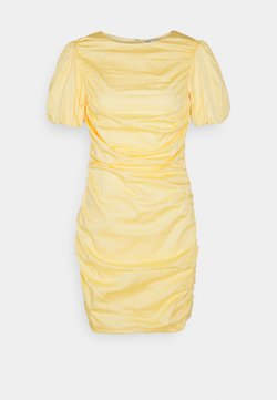 Nly by Nelly - THE CUTEST RUCHED DRESS - Juhlamekko - light yellow